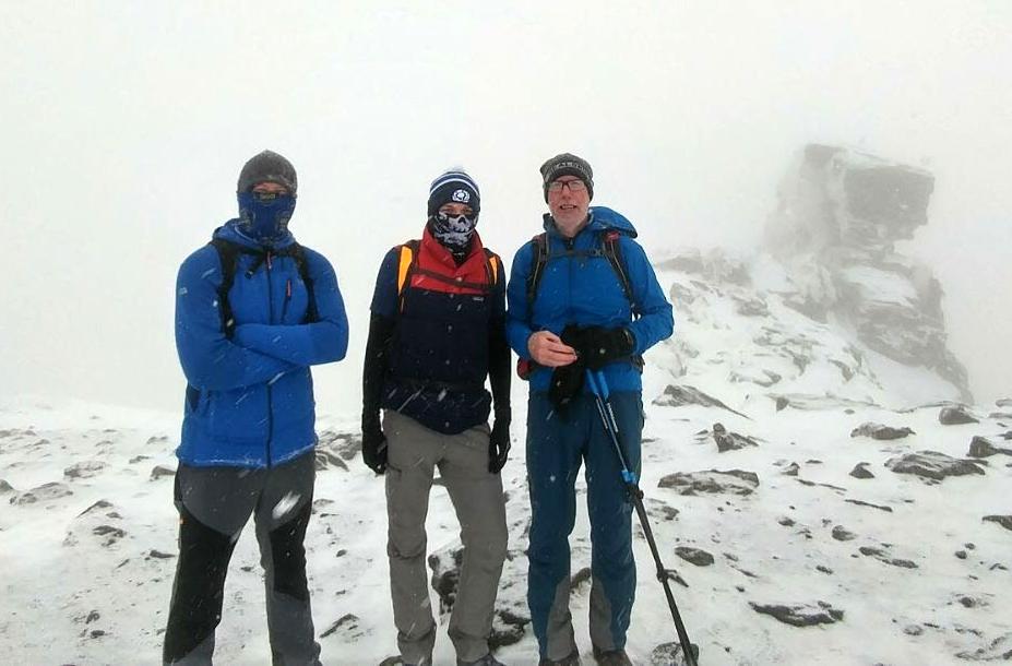 On the summit of Ben Arthur